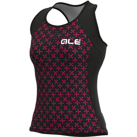 Alé Cycling Solid Helios Tank Top Women, black/fluo magenta